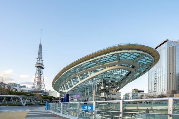 Nagoya cityscape with landmark buildings in nagoya, japan Premium Photo