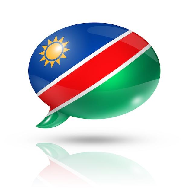 Namibian flag speech bubble Premium Photo