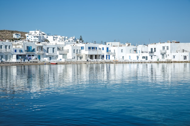 Naoussa village,paros, greece Premium Photo