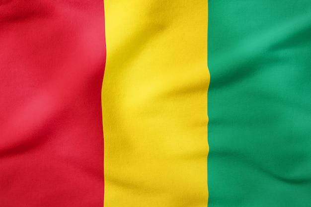 National flag of guinea - rectangular shape patriotic symbol Premium Photo