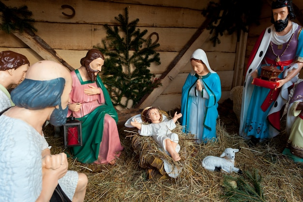 Nativity scene, munich Premium Photo