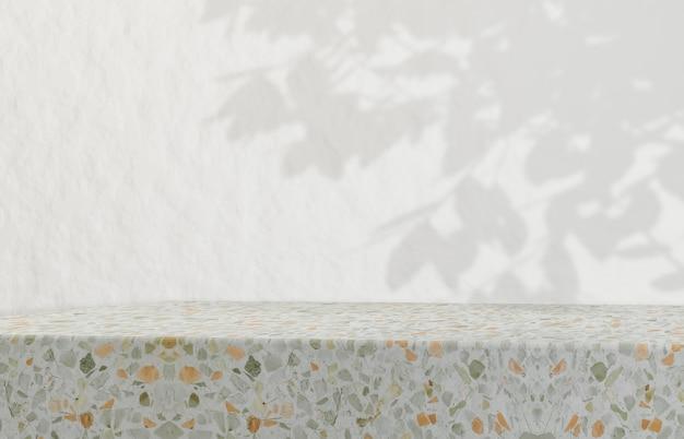 Натуральная косметика подуим для показа косметической продукции. мода красота фон с текстурой terrazzo. Premium Фотографии