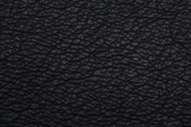 Natural black leather texture Premium Photo