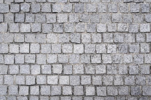Natural cobblestone floor pavement Premium Photo