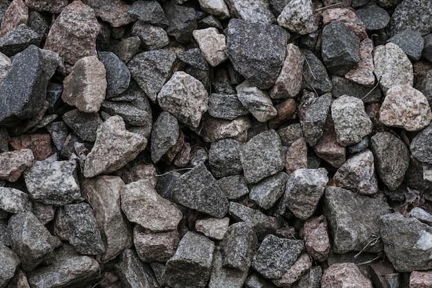 Natural crushed stones Premium Photo