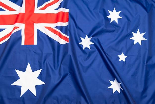 Natural fabric flag of australia Premium Photo