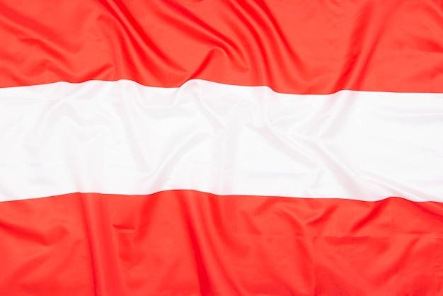 Natural fabric flag of austria as texture or background Premium Photo
