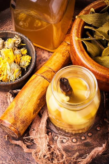 Natural herbs medicine Premium Photo