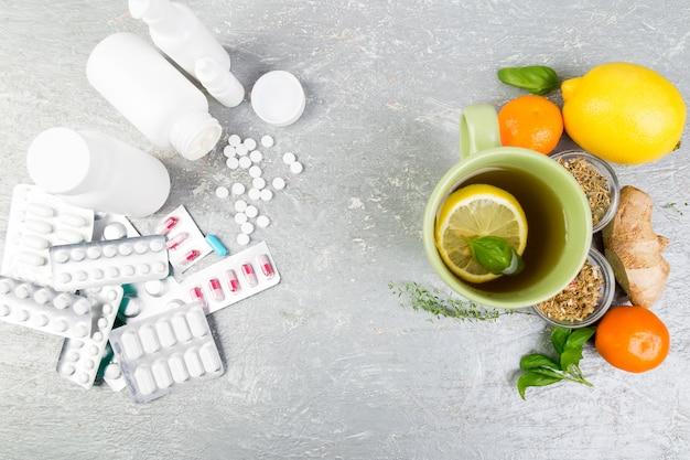 Natural medicine vs conventional medicine . Premium Photo