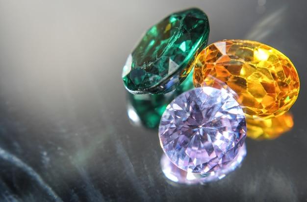 Natural sapphire gemstone Premium Photo