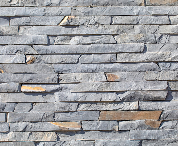 Natural Slate Background Or Texture Stone Facing Tile For Facade Work And For Interior Design Premium Photo