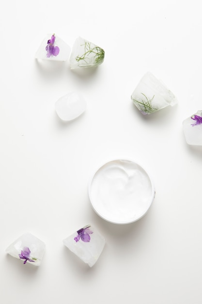 Natural soap and cream with white background Free Photo