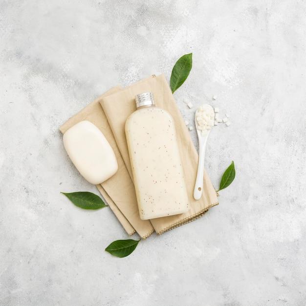 Natural soap and lotion Free Photo