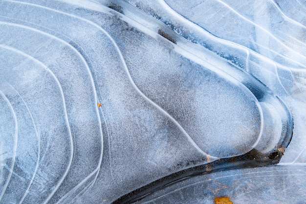 Natural texture of ice structure and snow Premium Photo
