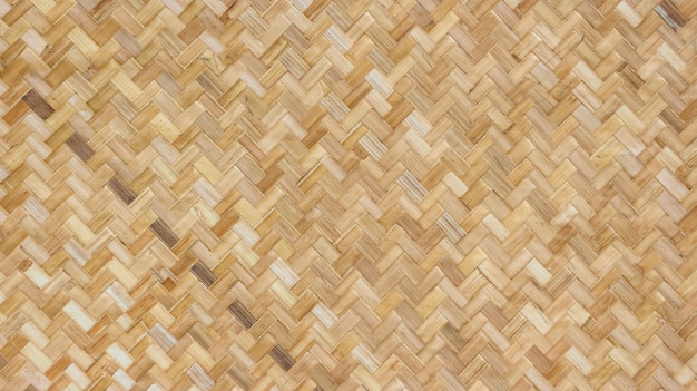 Natural weaving bamboo rattan texture wall background. Premium Photo