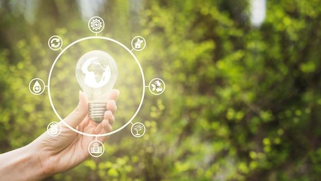 自然と再生可能エネルギーの概念 無料写真