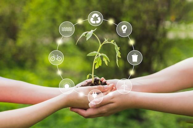 Природа и возобновляемая энергия Premium Фотографии