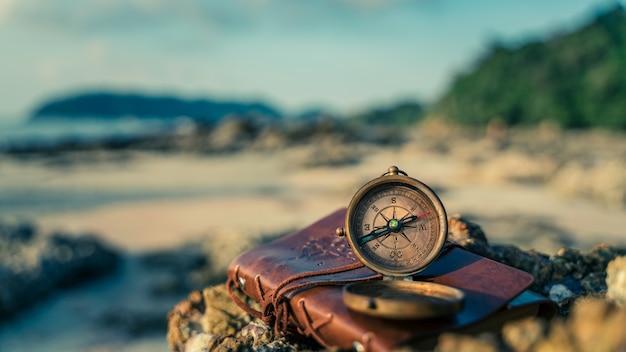 Nautical brass compass Premium Photo