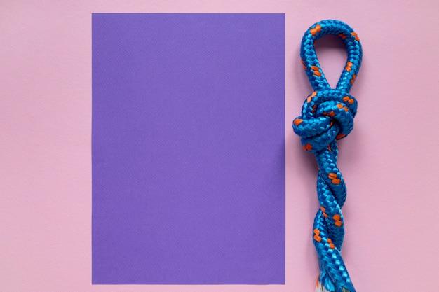 Морские веревочные узлы и копировальная бумага Бесплатные Фотографии
