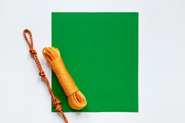 航海ロープノットグリーンコピースペースカード 無料写真