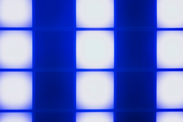 Neon blue light cubes abstract design Free Photo
