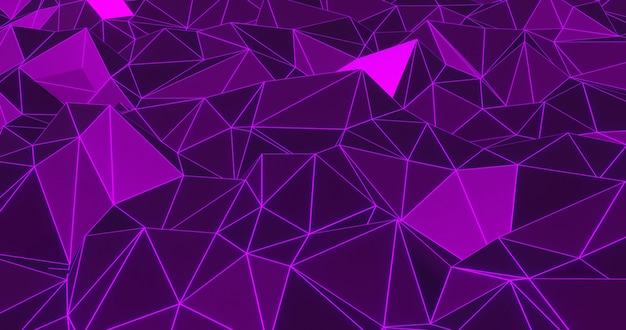Neon geometric abstract background. 3d render Premium Photo