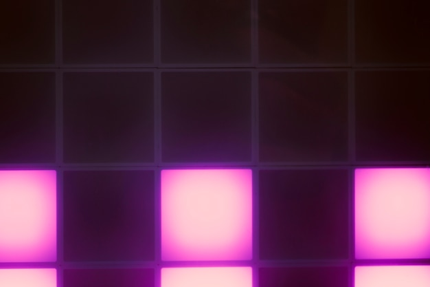 Neon violet light cubes abstract design Free Photo