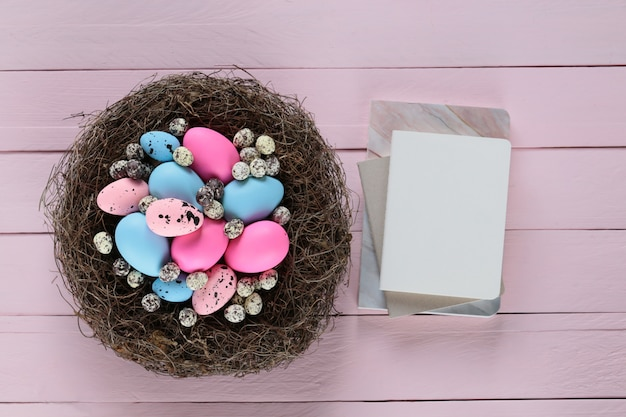 Blank Notebook Easter Gift Birds and Nests