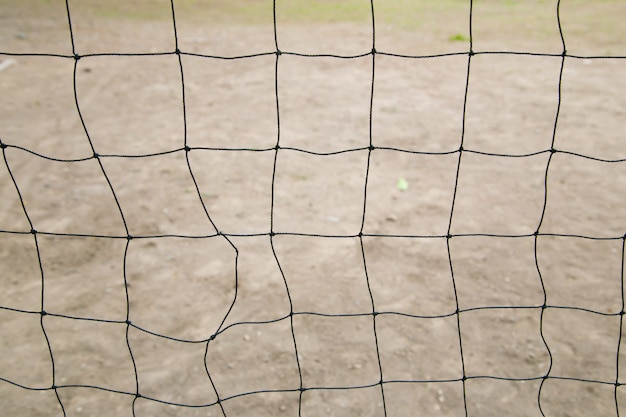 Net for the game of volleyball Premium Photo