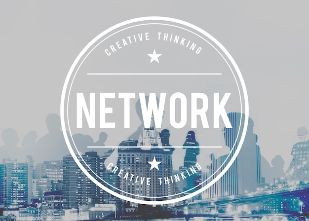 Network system online connection networking concept Free Photo