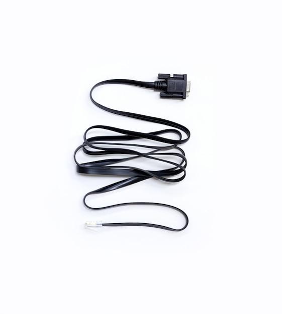 Networn cable plug wire cable usb computer vga Premium Photo