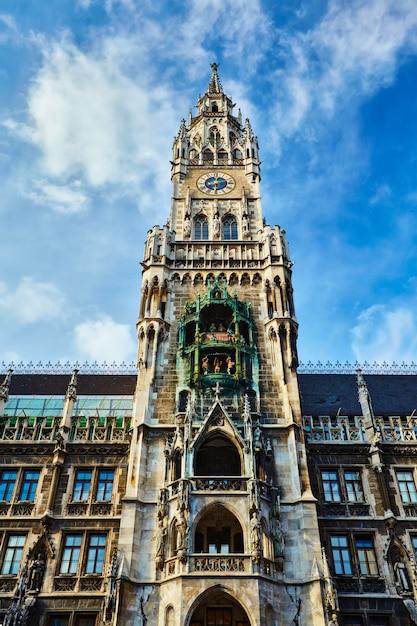 Новая ратуша neues rathaus, мюнхен Premium Фотографии