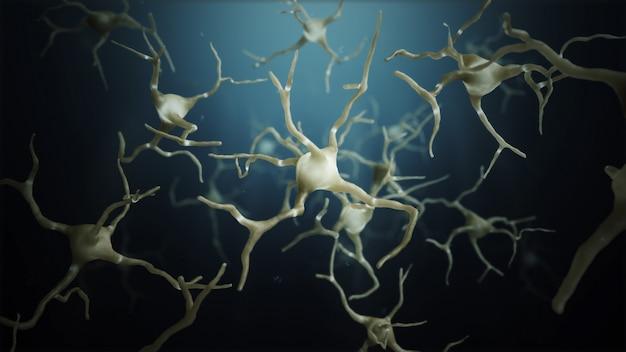 신경 세포 연결 프리미엄 사진