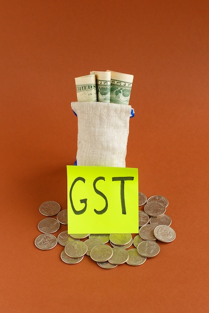 New currency and goods and service tax , gst tax Premium Photo