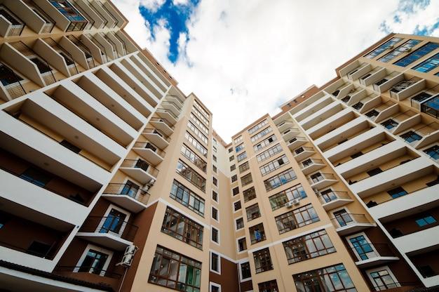 New development, many apartments house Premium Photo