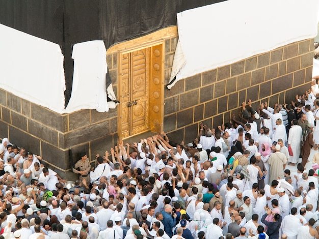 New images of kaaba in mecca after restoration Premium Photo