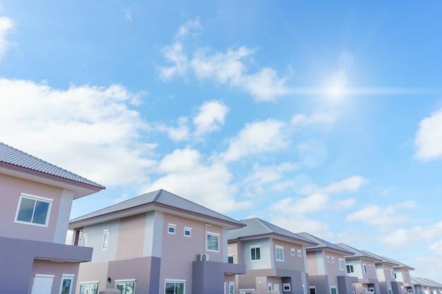 New modern house real estate in thailand Premium Photo