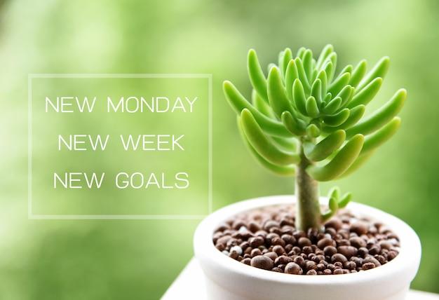 New monday new goals concept Premium Photo
