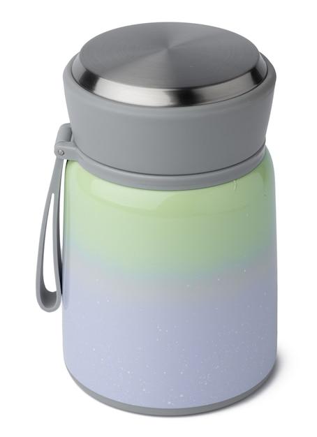 Новая пластиковая термочашка, изолированные на белом фоне Premium Фотографии