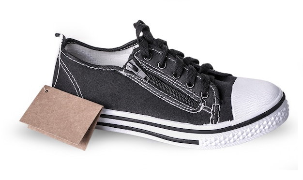 New sneakers with a label isolated Premium Photo