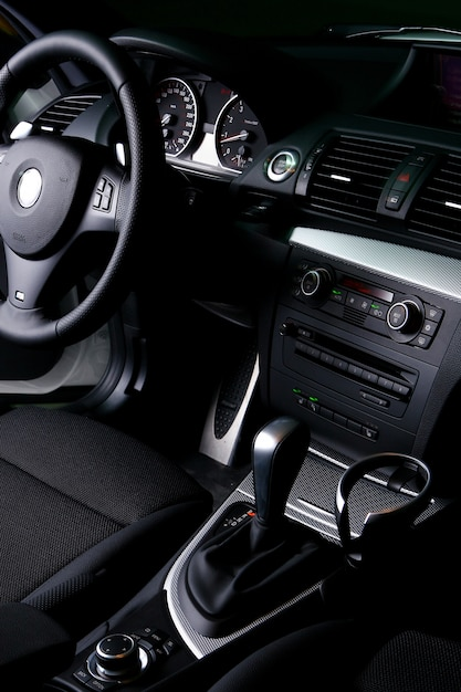 New white car dashboard Free Photo