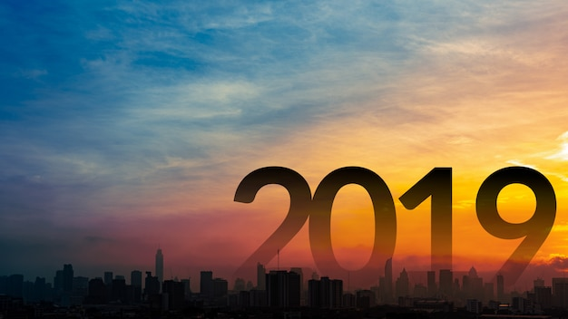 New year 2019 background. Premium Photo