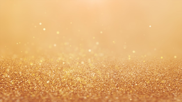 New year 2020. bokeh background. lights abstract. merry christmas backdrop. gold glitter light. defocused particles. golden color. floor Premium Photo
