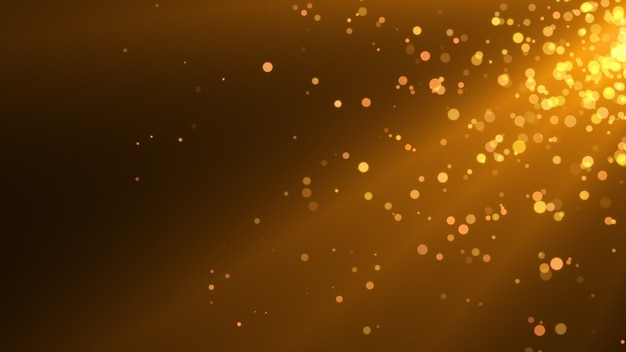 New year 2020. bokeh background. lights abstract. merry christmas backdrop. gold glitter light. defocused particles. golden color. rays. Premium Photo