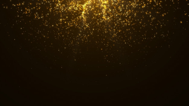New year 2020. bokeh background. lights abstract. merry christmas backdrop. gold glitter light. defocused particles. isolated on black. overlay. golden color Premium Photo