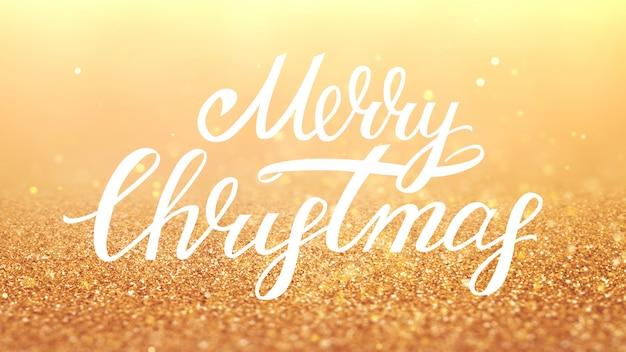 New year 2020. bokeh background. lights abstract. merry christmas backdrop. gold glitter light. defocused particles. xmas lettering. golden color. Premium Photo