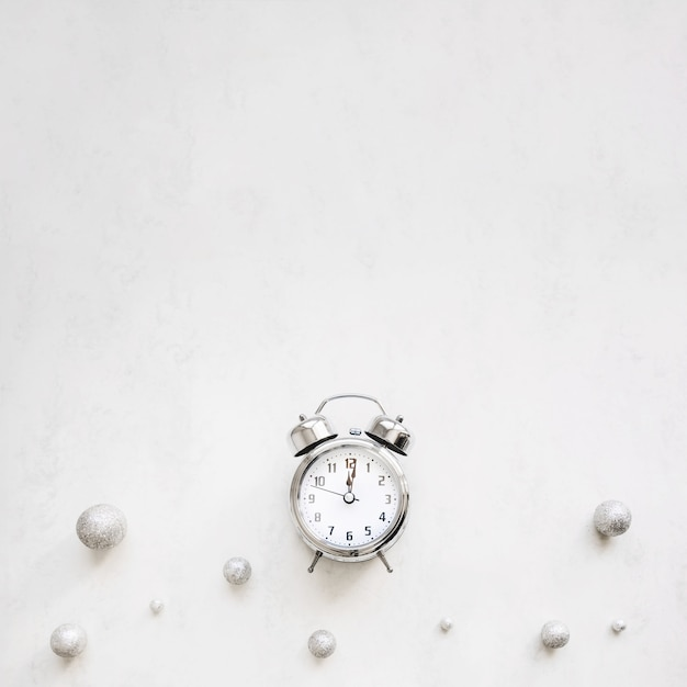 New year background with alarm clock Photo | Free Download