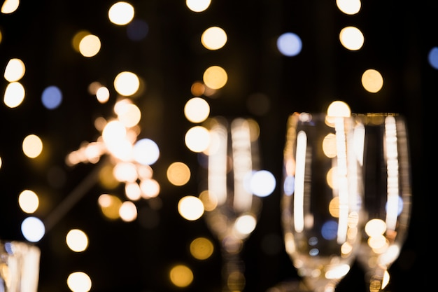 New year background with champagne Free Photo