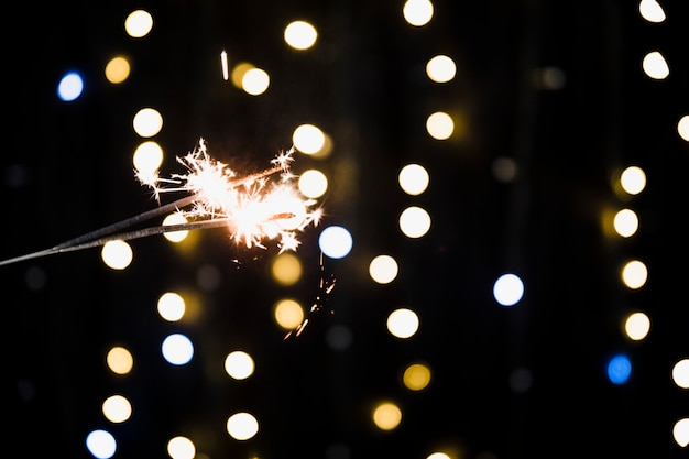 New year background with sparkler Free Photo