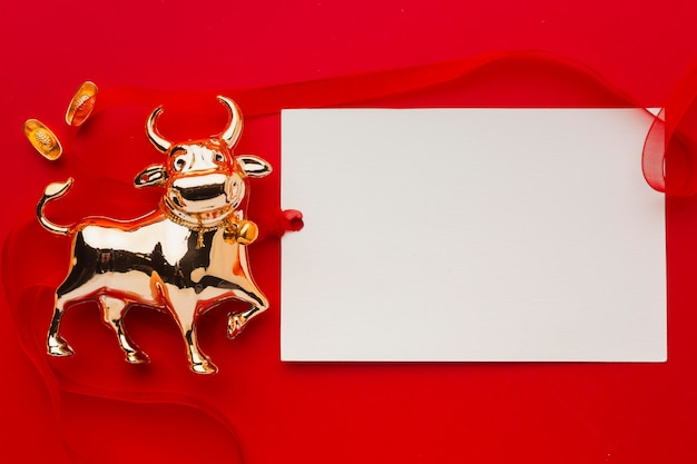 New year chinese 2021 golden ox copy space Free Photo